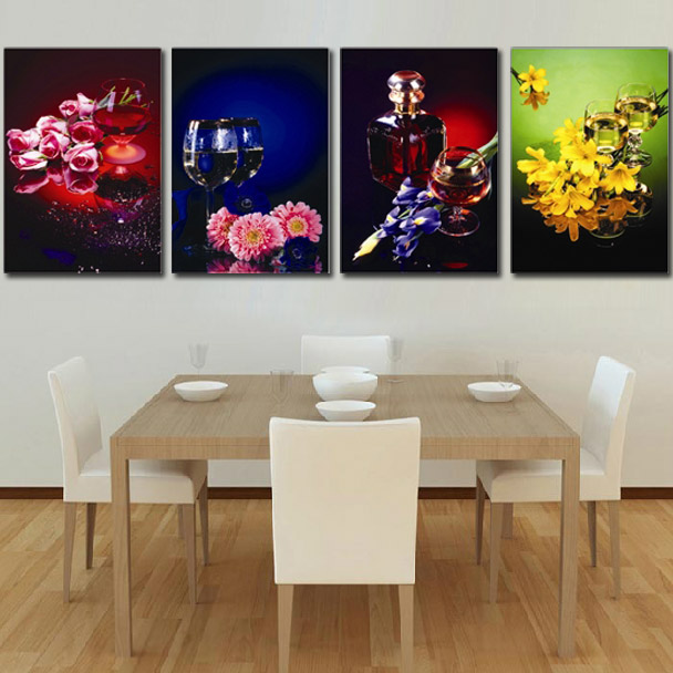 Meng qi spent four seasons new living room precise printing stitch stitch romantic restaurant wine glass fruit series