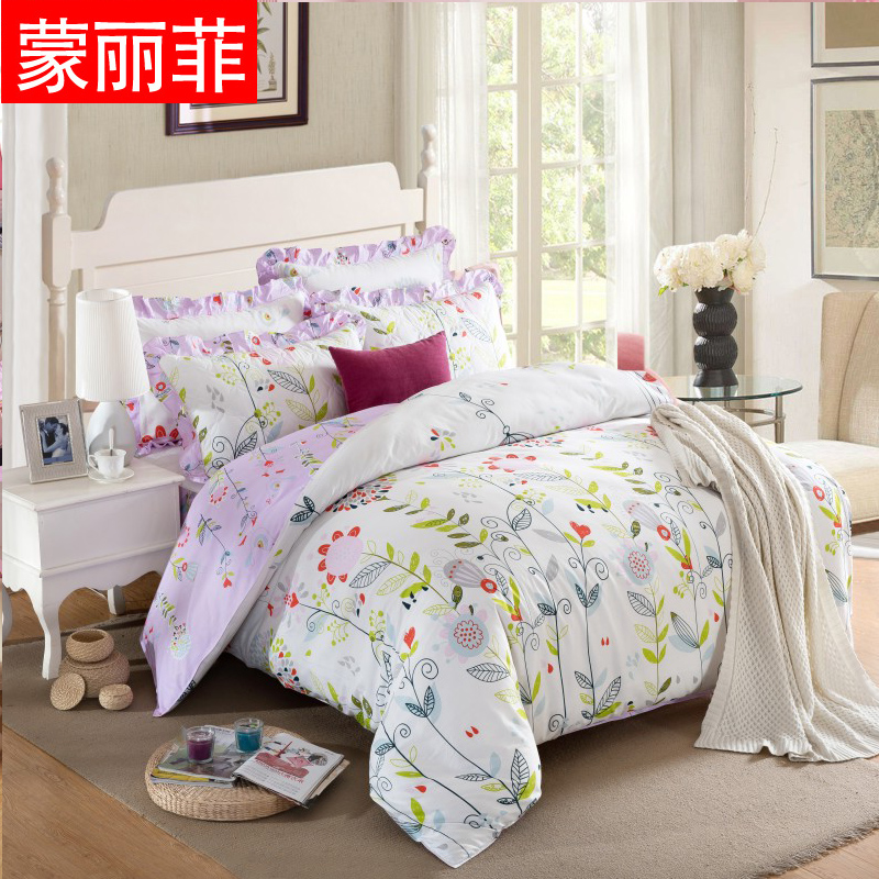 Mengli fei cotton quilted bed li family of four autumn and winter korean version of the simple bedding quilted bed enterprises quilt kits