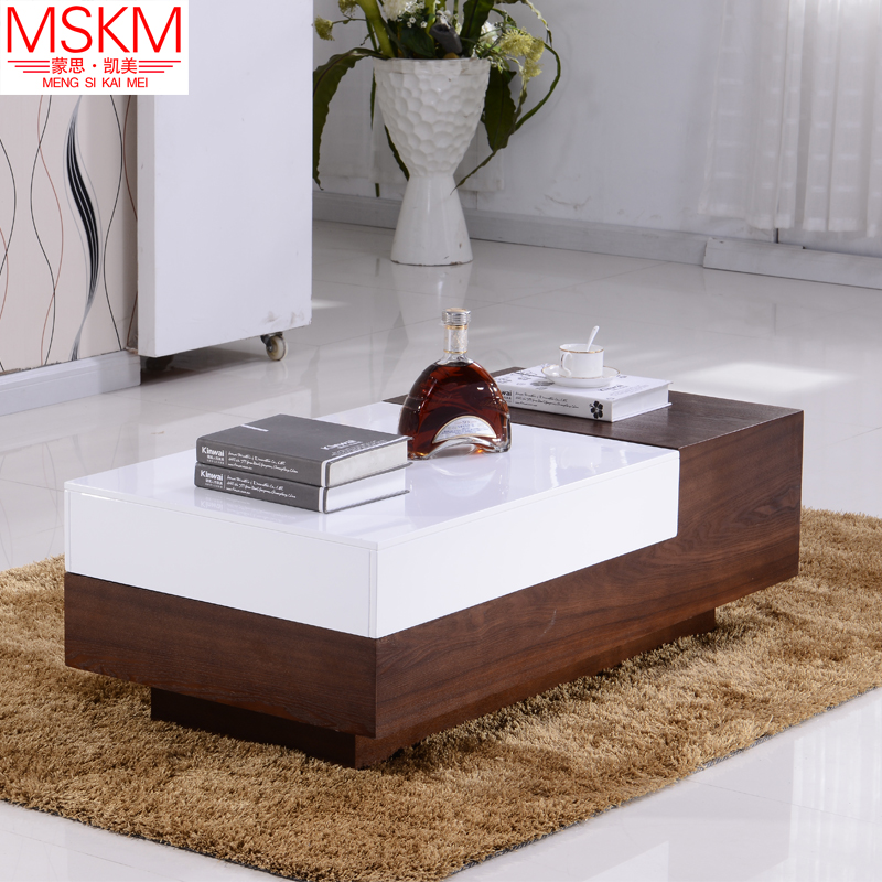 Mengsi kai us quality paint modern minimalist small apartment oak texture scalable coffee table free shipping