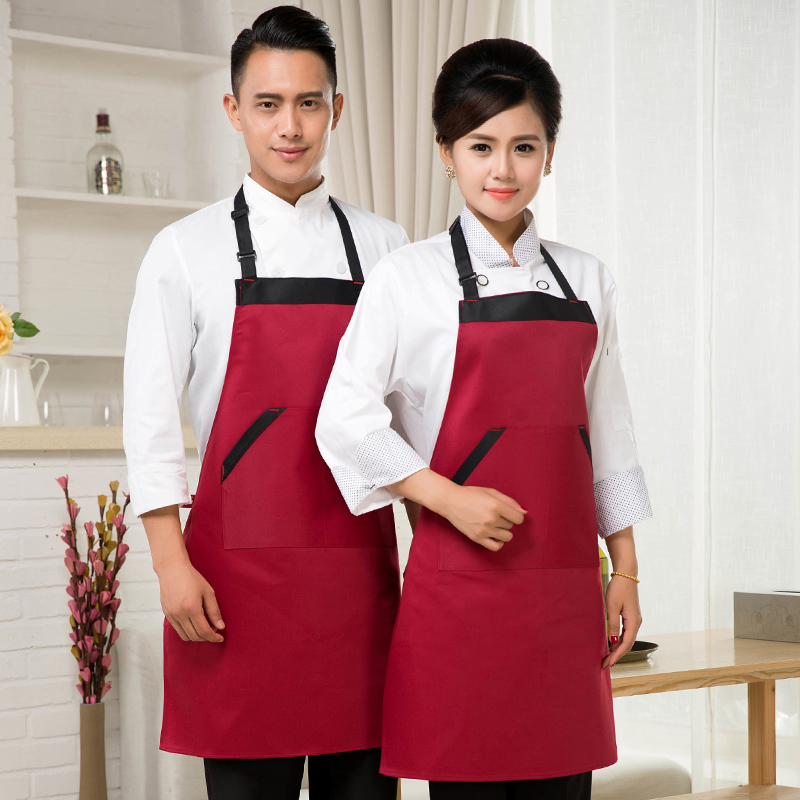 Men's custom aprons aprons korean fashion home kitchen aprons work aprons chef service hotel restaurant coffee tea shop