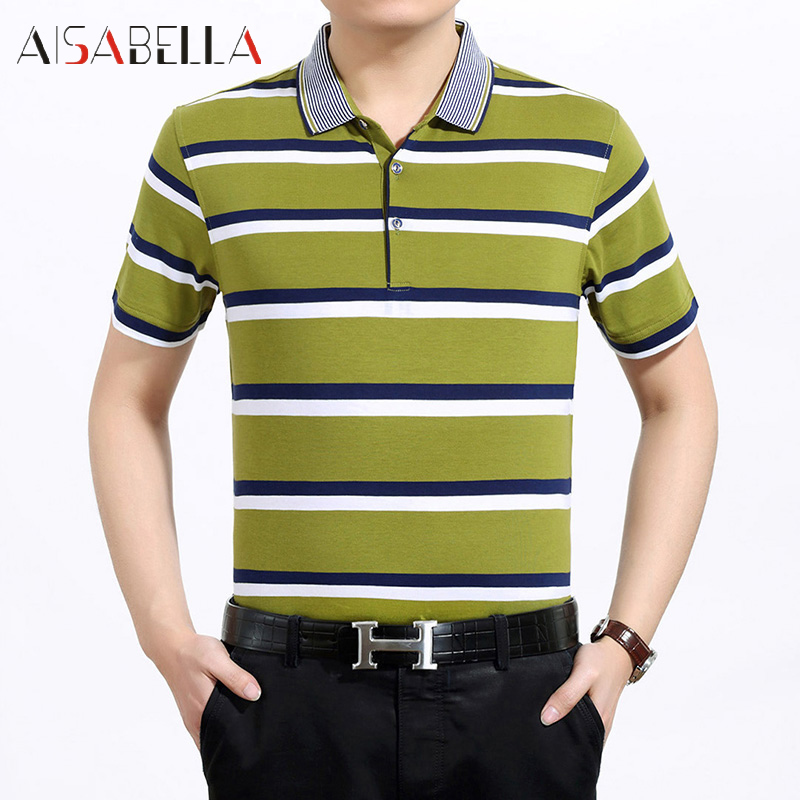 Men's short sleeve t-shirt aisabella paragraph 2016 summer casual striped men's business casual genuine ba jin