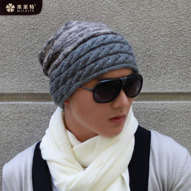a86a822693b Get Quotations · Men s winter hat korean tidal thick wool hat knitted hat  autumn and winter days hedging hat