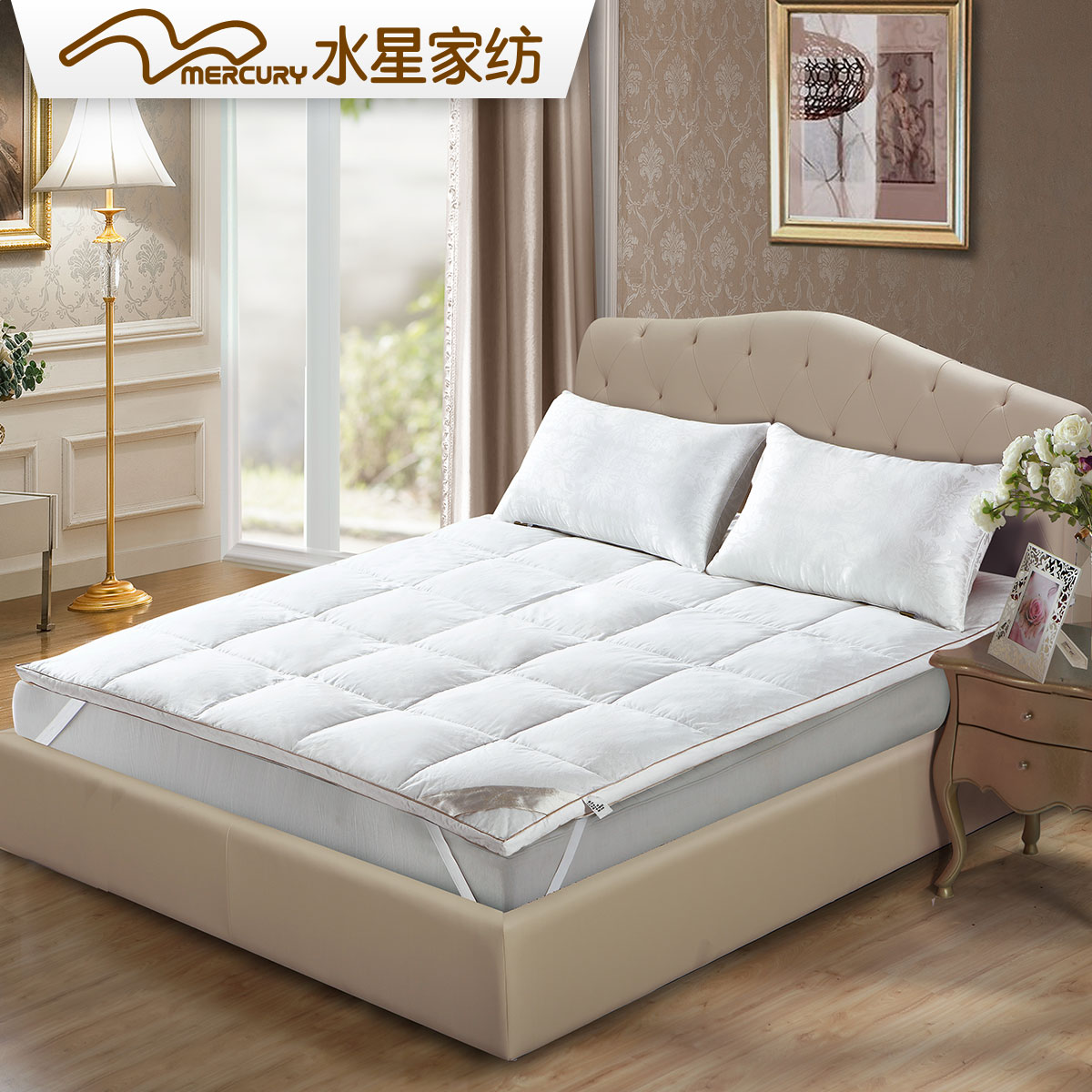 goose hi bed store square baffled featherbed the feather company res down