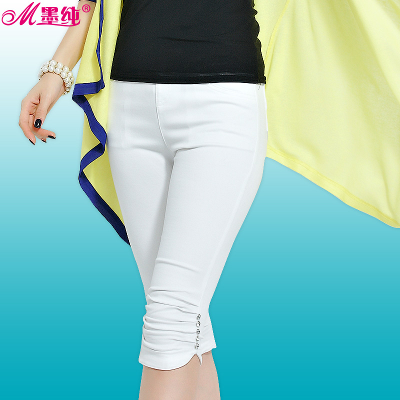 Mexican pure white casual pants thin section summer pant leggings was thin outer wear pants feet pencil pants women