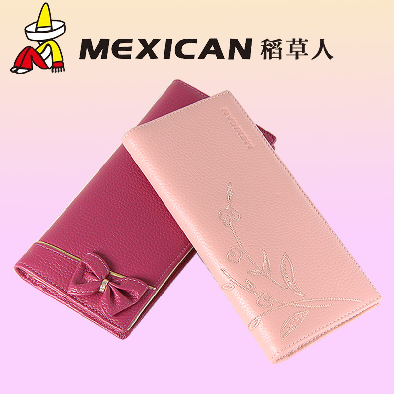 Mexican/scarecrow ladies leather long wallet women wallet japan and south korea small fresh leather wallet large capacity wallet