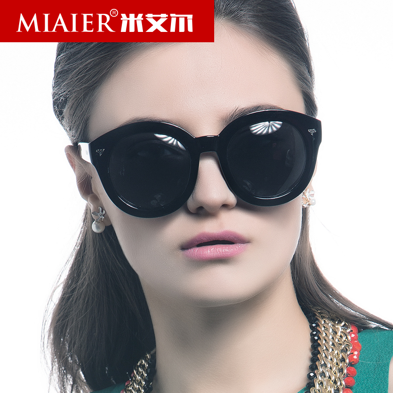 Miai er ms. round sunglasses polarized sunglasses glasses yurt influx of people plate wood box driver mirror driving mirror