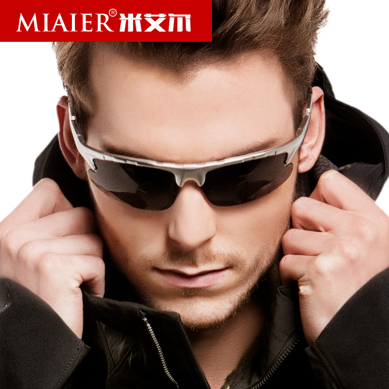 Miai er sports polarized sunglasses male driving sunglasses polarizer influx of people sunglasses aluminum magnesium sunglasses male driver mirror