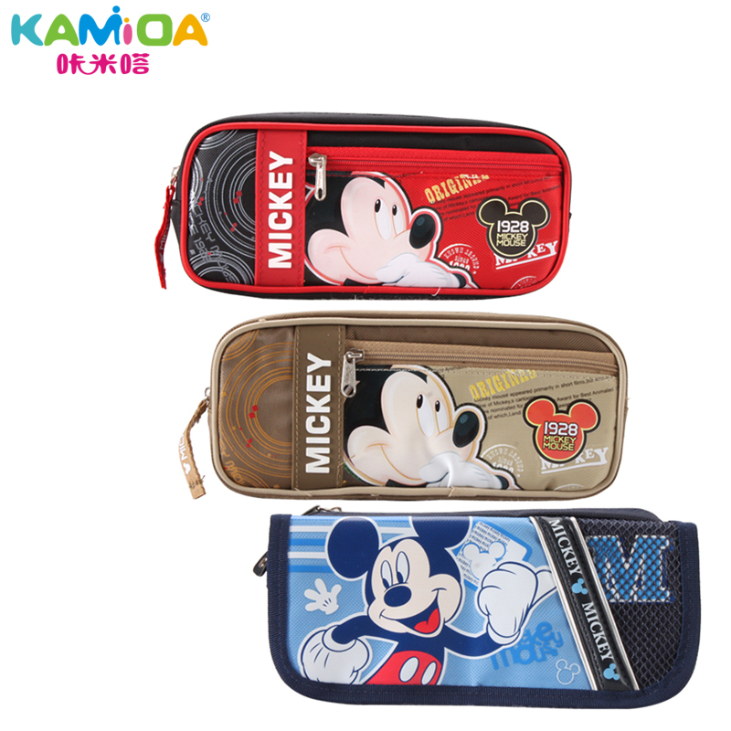 Mickey primary children's stationery pen bag pencil bag stationery bag large capacity pencil boys