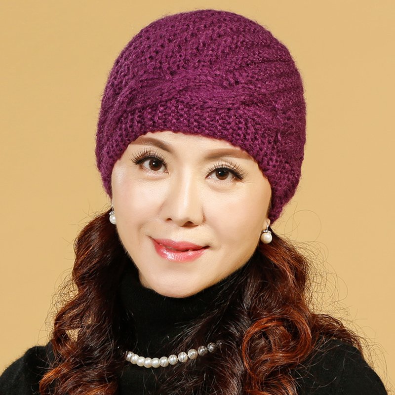 Middle-aged ladies autumn and winter wool cap elderly mom hat hat female winter hat winter cap elderly grandmother