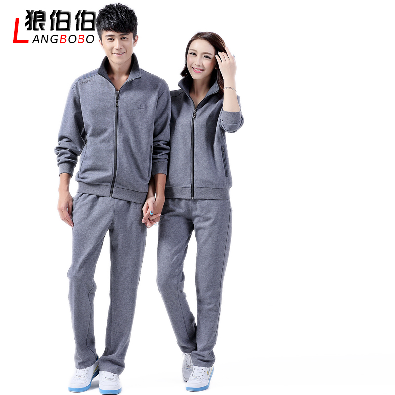 2d60924d1b Get Quotations · Middle-aged male and female couple spring sleeved  sportswear suit jiamusi aerobics square dance community