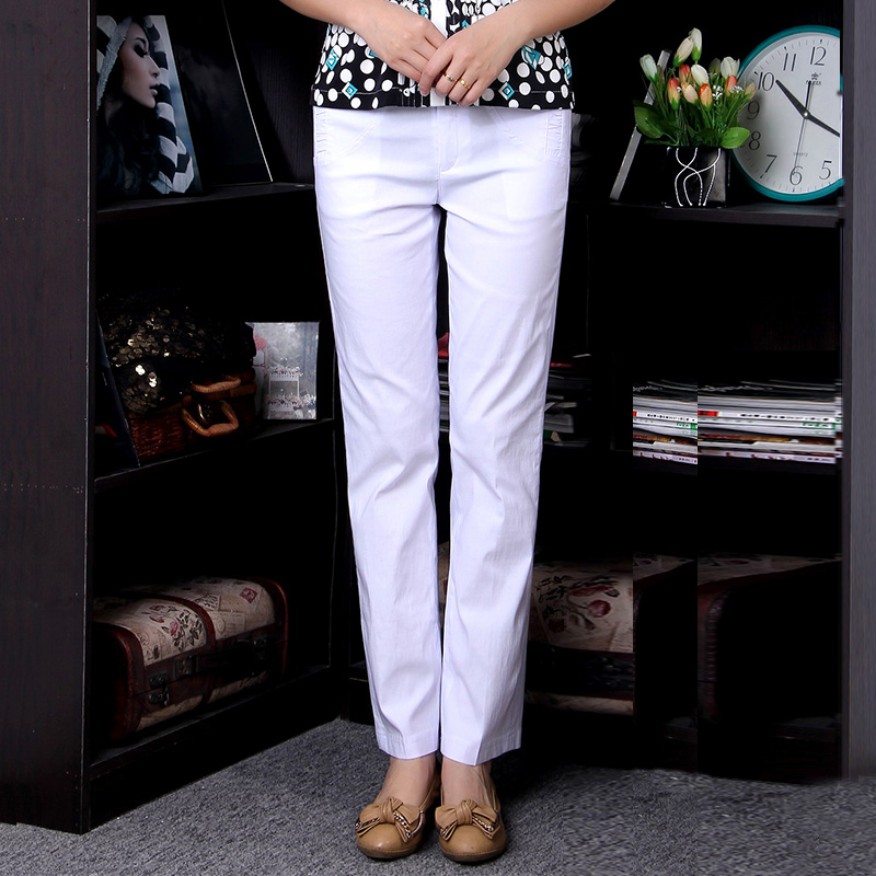 Middle-aged mother dress pants trousers middle-aged middle-aged women's stretch pants feet pants casual pants middle-aged middle-aged summer