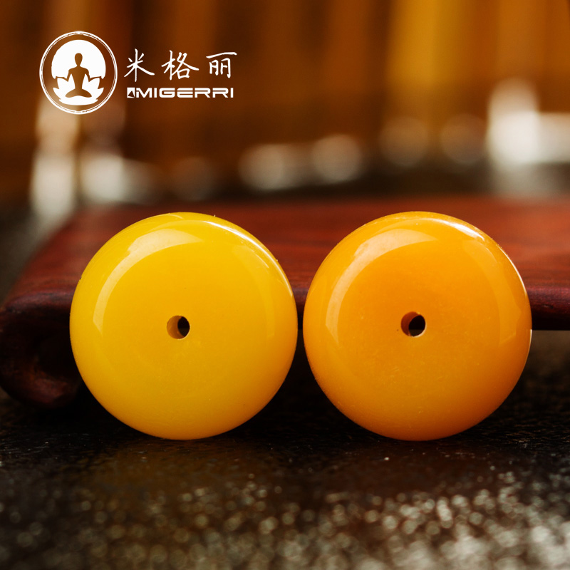 Mig liesl-baltic amber beeswax beeswax loose beads spacer spacer beads optimization and recycling xingyue diy accessories