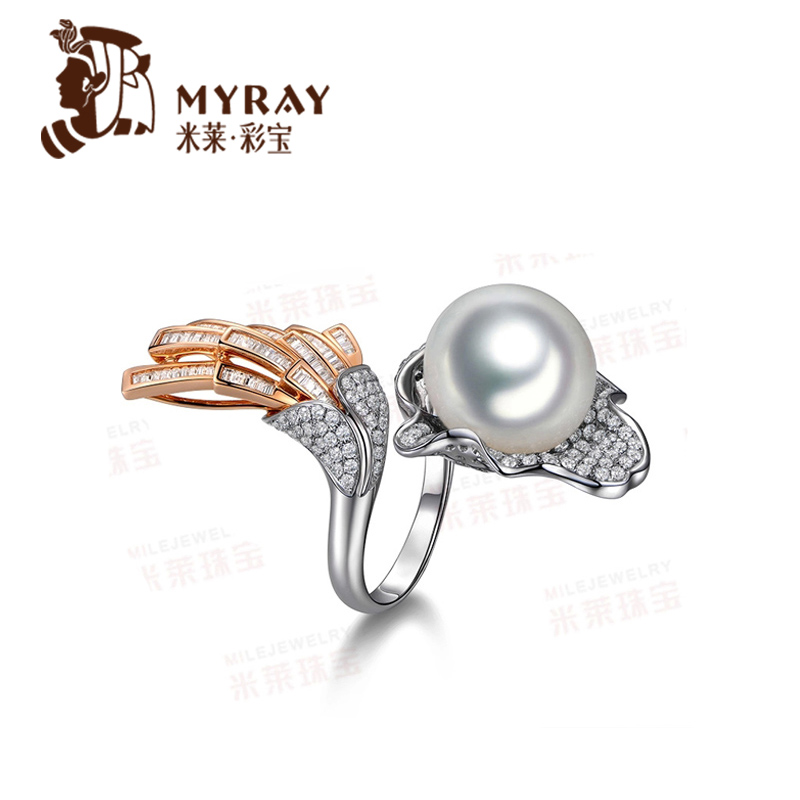 Mile australian south sea pearl ring 2mm k gold pearl ring multicolored