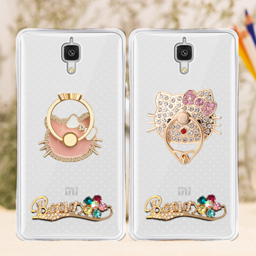 Millet 4 phone shell mobile phone ring bracket MI4W drop resistance silicone protective sleeve millet millet 4 mobile phone shell cartoon shell influx of female models