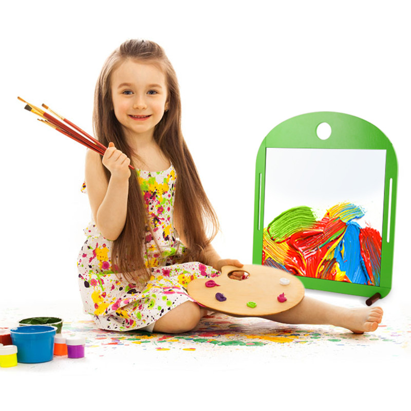 Mimi chi play children suit sided magnetic sketchpad easel painting scaffolding baby wordpad small blackboard