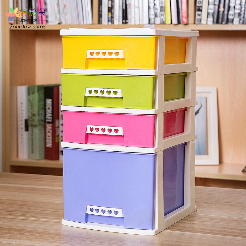 Mini desktop document finishing debris cabinet drawer storage cabinets multilayer plastic tables and chairs on a small storage box 3 layer