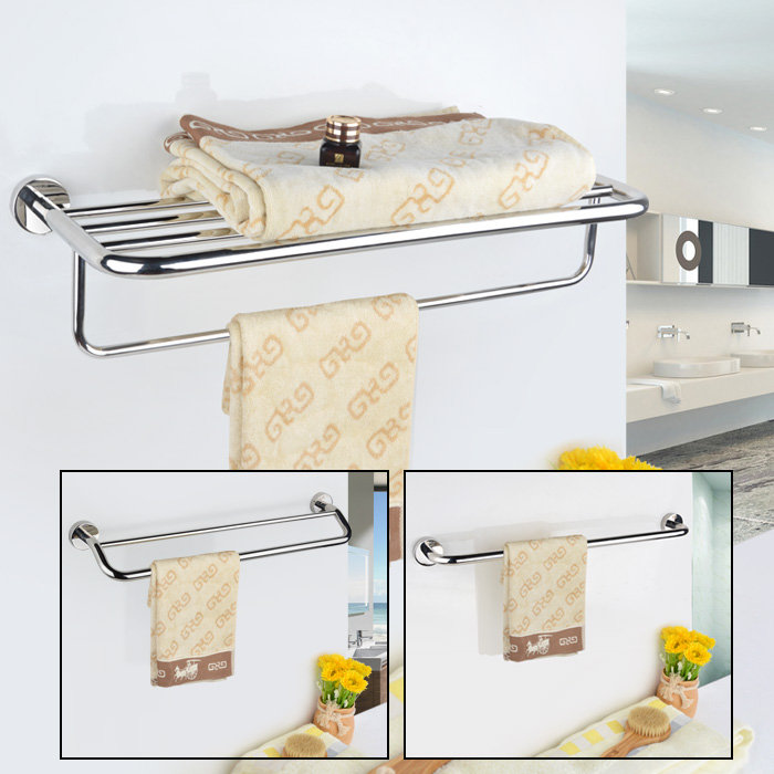 Mini house bathroom towel rack 304 stainless steel bathroom hardware hanging towel rack towel rack bathroom bathroom accessories set