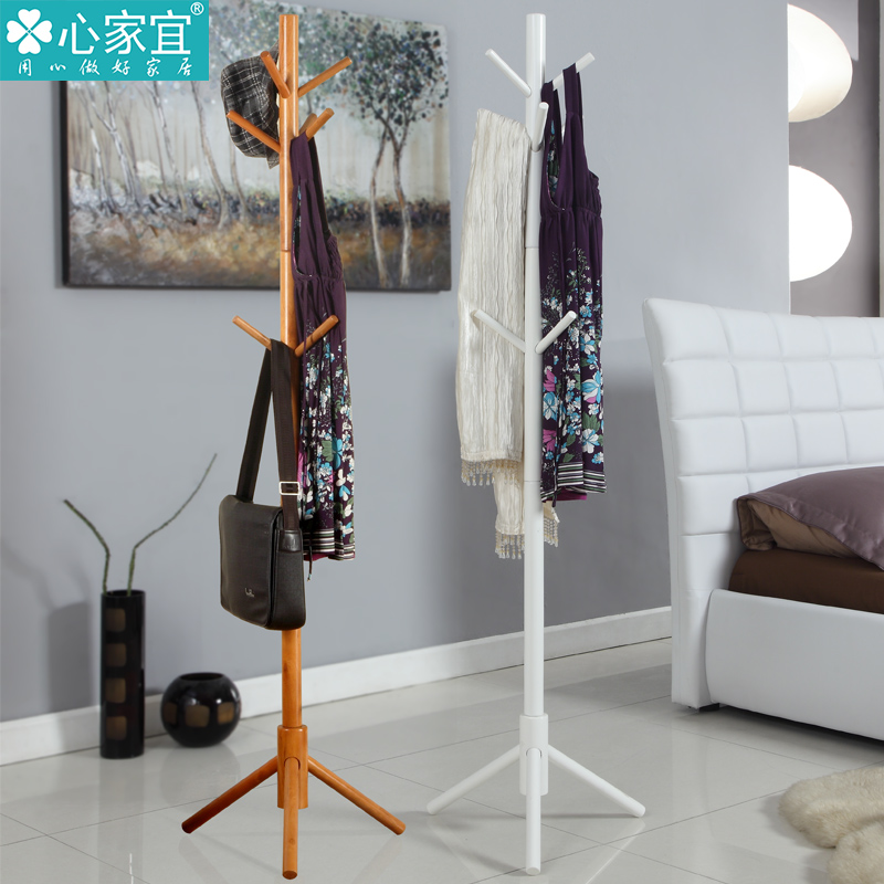Minimalist modern european solid wood floor coat rack hangers ikea creative living room inside the bedroom clothes rack hanger