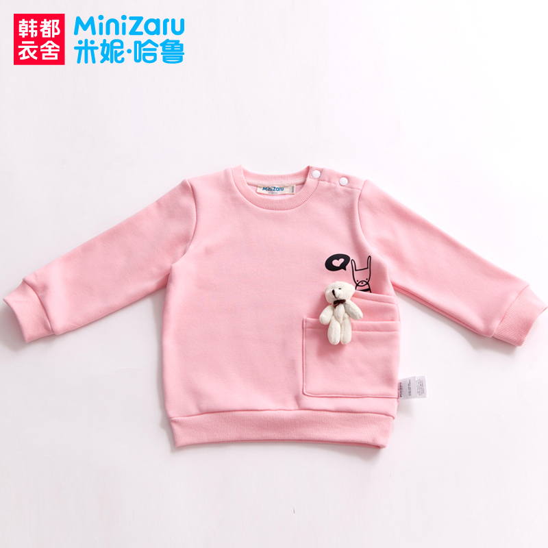 Minnie halu korean homes have clothes 2016 korean version of the fall and winter child children female baby infants and young children cotton sweater hedging