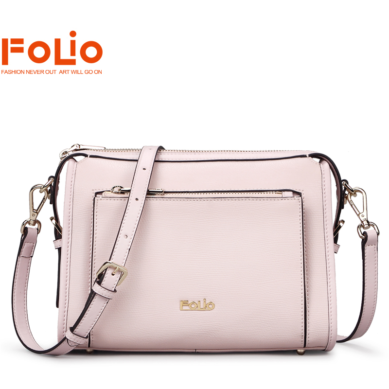 Miss xia xinpin folio small bag messenger bag leisure bag female leather shoulder bag fashion female bag pink