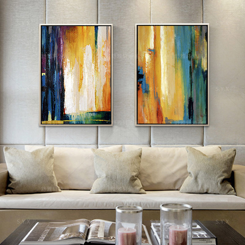 Modern abstract painting decorative painting the living room bedroom entrance paintings handmade oil painting american creative wall painting wall painting art paintings