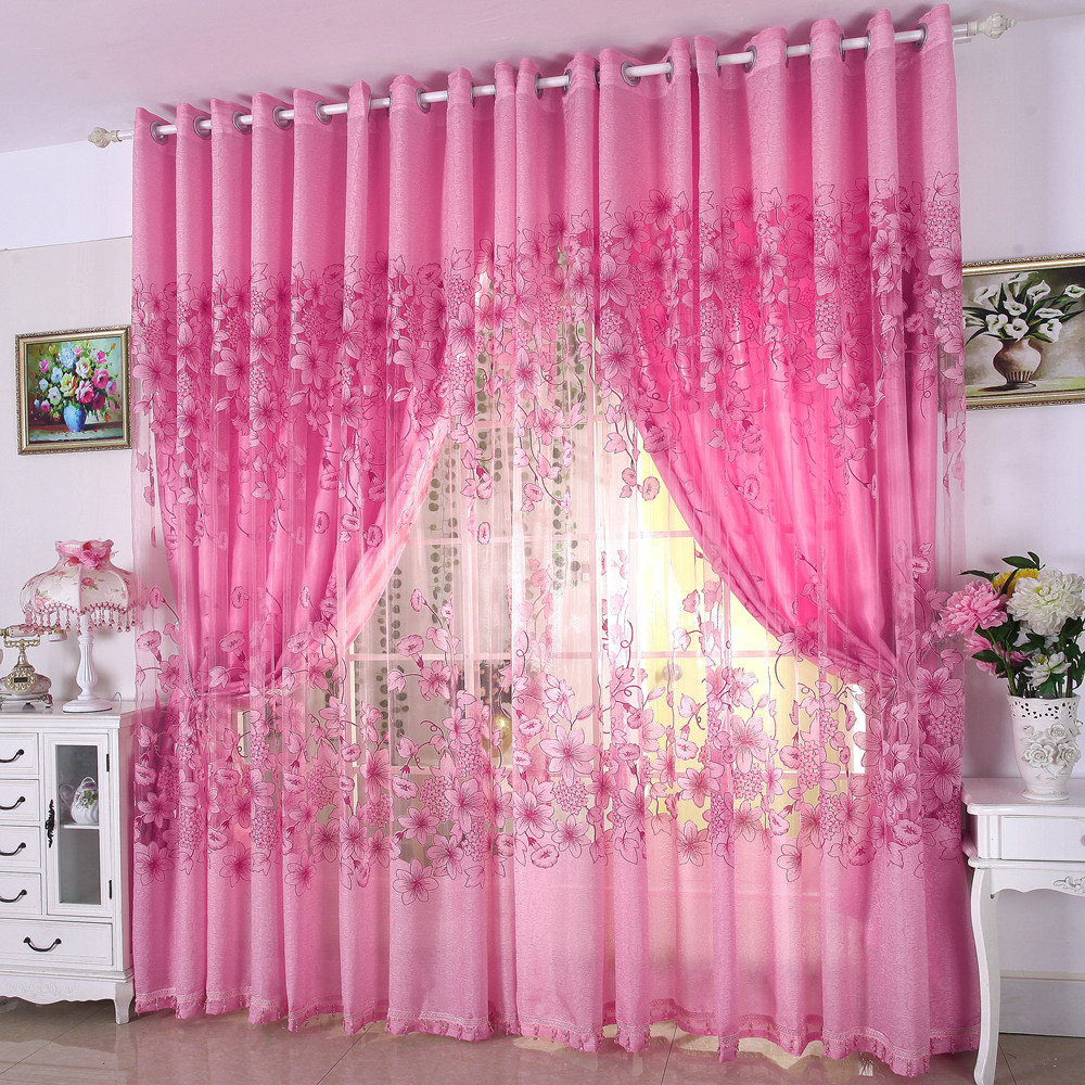 Get Quotations Modern European And A Half Blackout Curtains Finished Fabrics Custom Hollow Pink Yarn Marriage Room Living