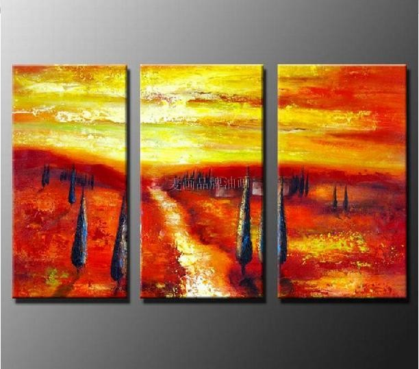 Modern frameless painting pure arts and crafts pumping like painting the living room decorative painting triptych mural painting paintings M1042