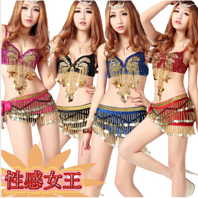 Modern jazz dance sequined suit belly dance performances ds costumes sexy little woman stage fashion catwalk clothes