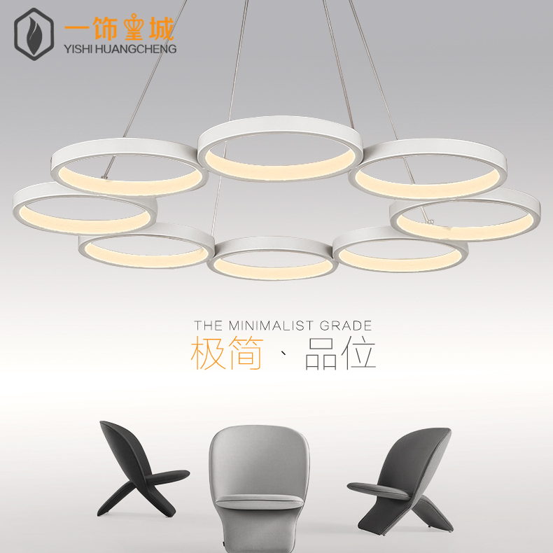 Modern minimalist living room led acrylic chandelier shaped creative restaurant fashion art lighting lamps bedroom