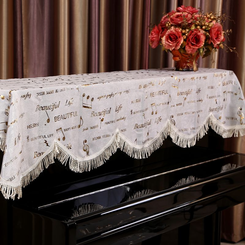 Modern minimalist musical notes piano cover full cover piano cover piano cover cloth dust cover piano cover piano stool sets of thick