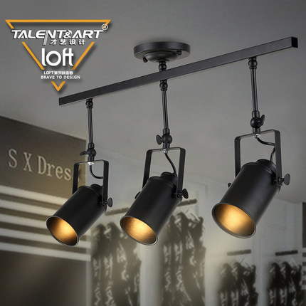 China vintage track lighting china vintage track lighting shopping get quotations modern minimalist vintage american creative living room bar personalized clothing store spotlights track light led industrial aloadofball Gallery