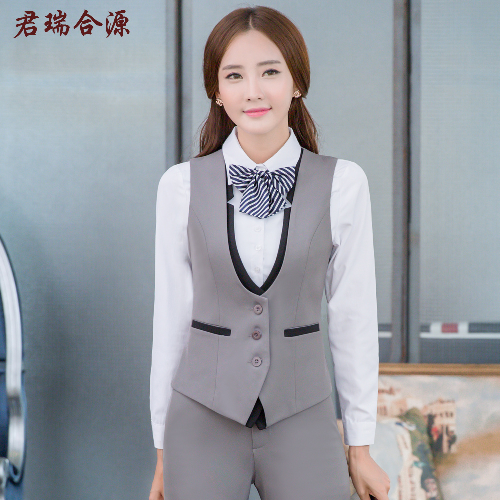 Monarch rui source suit vest hotel reception overalls fall and winter clothes stewardess uniforms professional women's long sleeve dress
