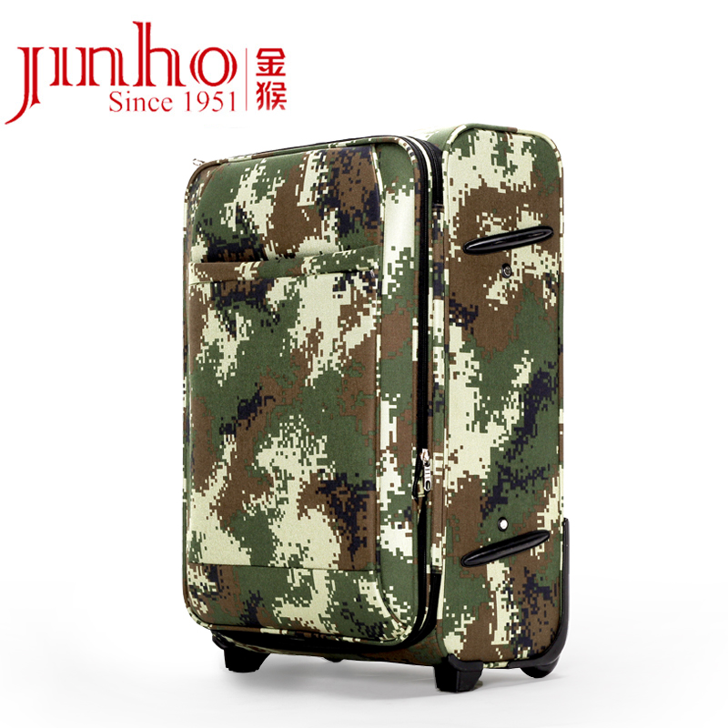 Monkey genuine army camouflage trolley suitcase soft case luggage suitcase lockbox 24 inch suitcase luggage oxford cloth men and women