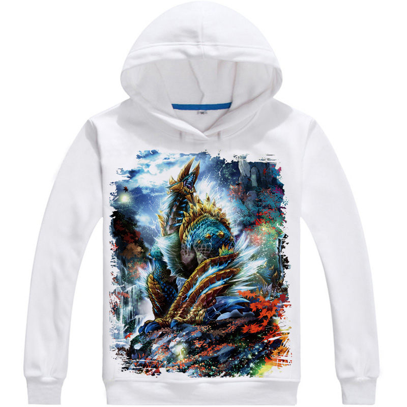 Monster hunter thunder wolf dragon comfortable animation around clothes fall and winter clothes clothing coat sweater hoodie
