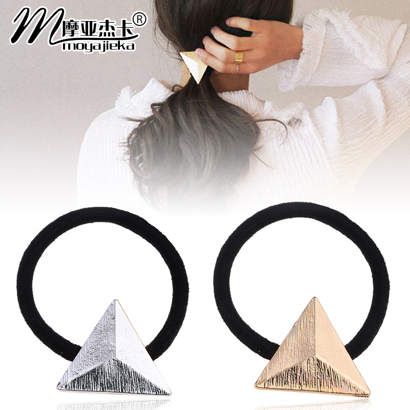 Moore jieka korean simple wild retro geometric triangle hair ring hair tie rubber band hair accessories hair rope tousheng
