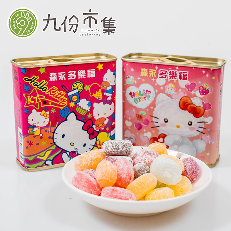 Morinaga-chitty kitty cat more than carrefour fruit sugar 100g * 1 box (random delivery) taiwan's childhood Snacks