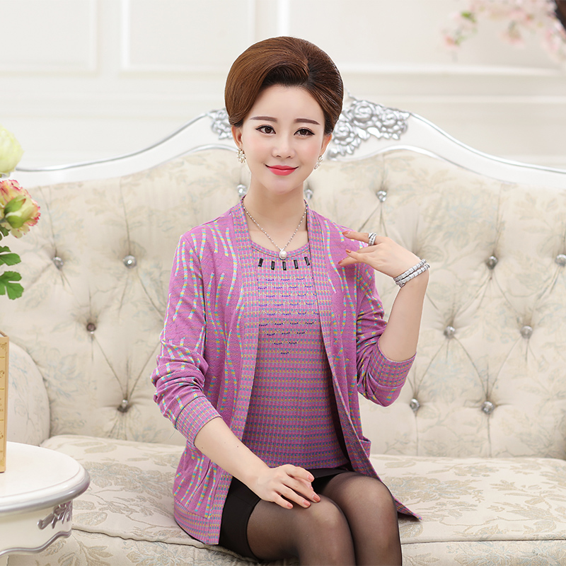 c8239271cf Get Quotations · Mother dress autumn middle-aged middle-aged women s  sweaters women aged middle-aged