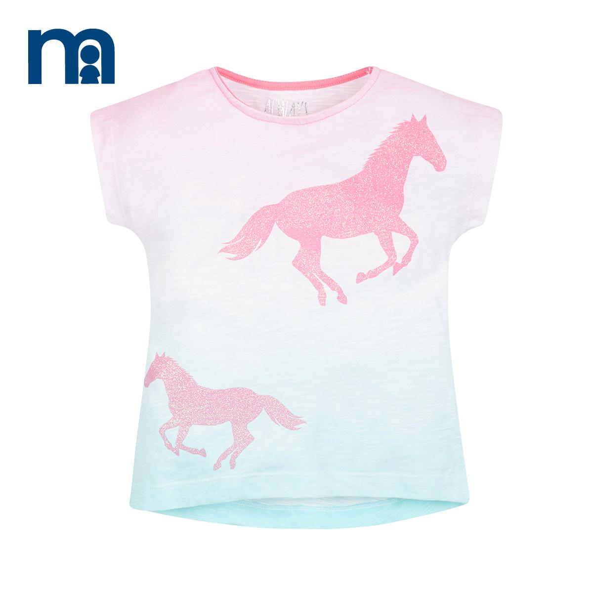 Get Quotations · Mothercare uk H1560 horse girls 2016 new girls short  sleeve t-shirt short sleeve shirt fb52cc448