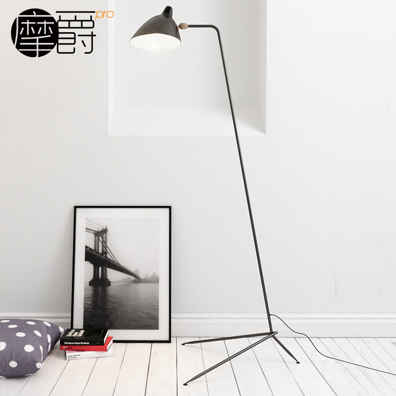 Mount grand nordic creative floor lamp floor lamp creative personality wrought iron three spiders claws duckbill special d