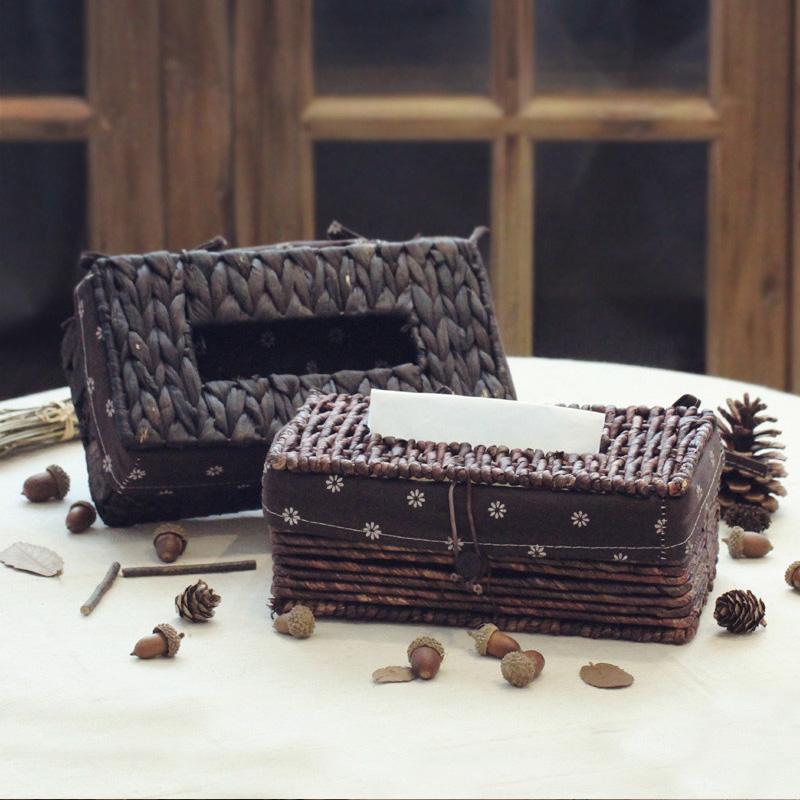 Mount house american country furniture soft home decorations ornaments living room coffee table rattan tissue box storage box