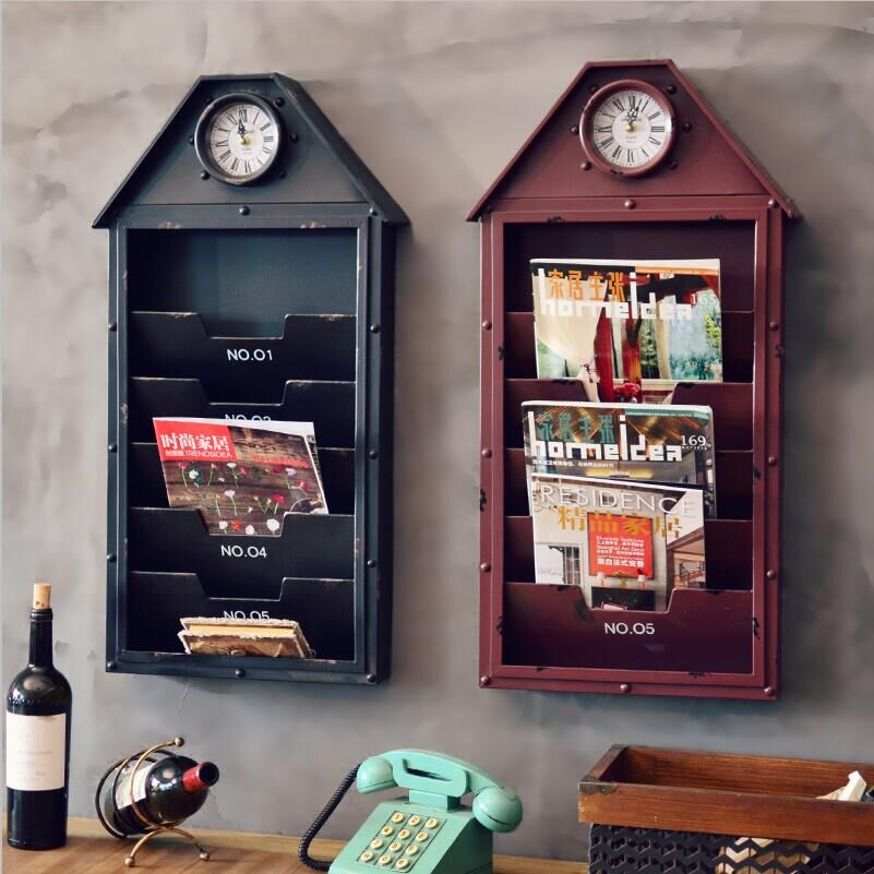 Mount house furniture american retro decorative wall hanging wall decorations wall murals and creative storage magazine
