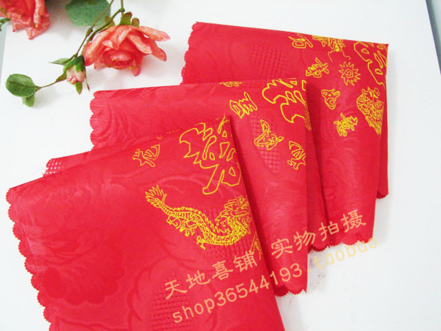 Mouth cloth napkins wedding/red wedding wedding hi hi pago pago bride married hi hi pago pago handkerchief can be customized direct factory price