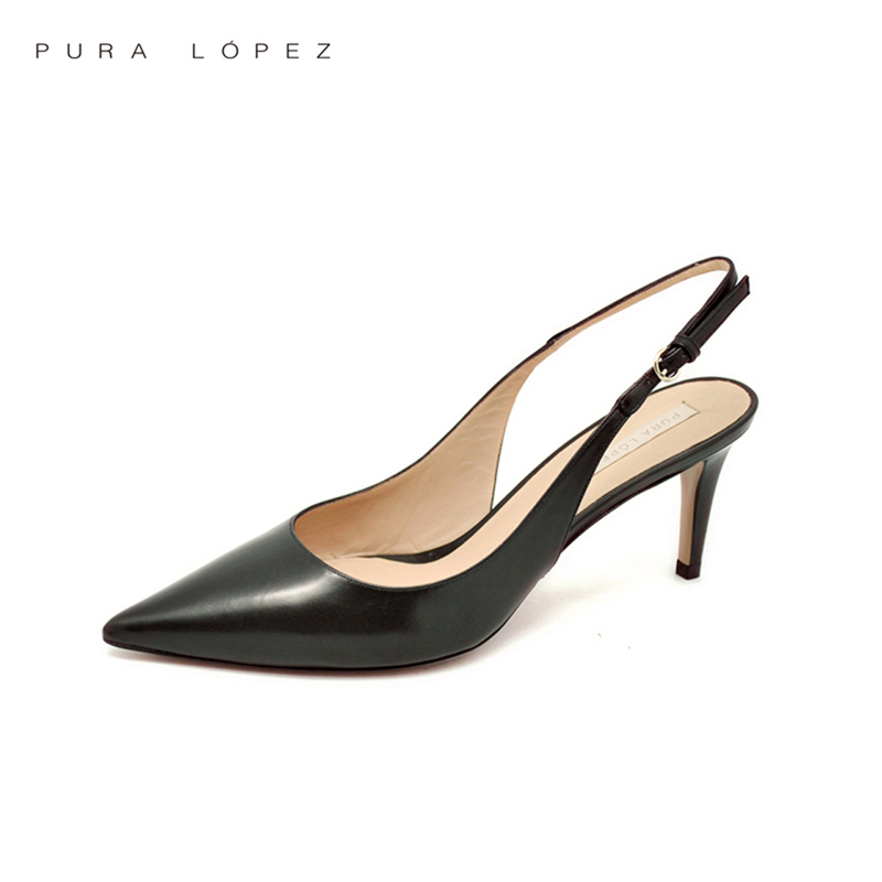 f9fab54e2 Get Quotations · Ms. baez luo bula lópez pura AD372 in fine with solid  color leather high heels