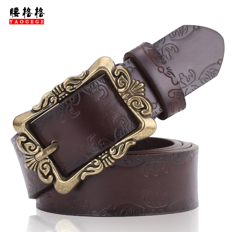 Ms. belt belt female models female korean retro leather belt female fashion decoration wide belt female