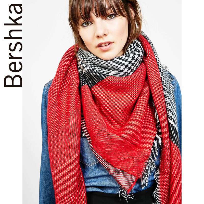 e22aa1982a5 Get Quotations · Ms. bershka houndstooth thin scarf 09318877