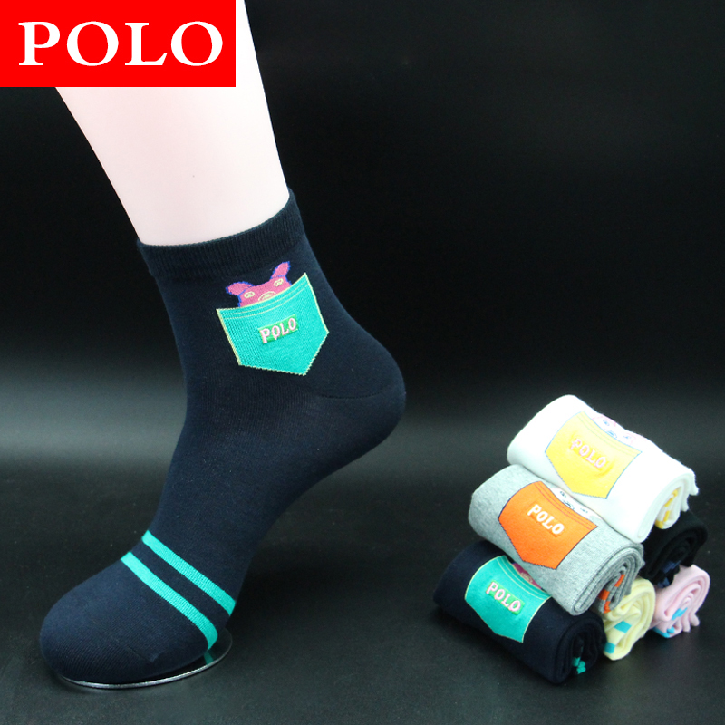 Ms. cotton socks autumn and winter socks in tube socks ms. socks polo minimalist autumn and winter socks female thick socks jacquard socks
