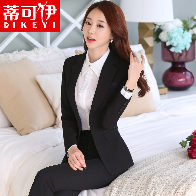 Ms. fall and winter long sleeve slim ol ladies wear suits formal wear business suits overalls interview tooling equipment
