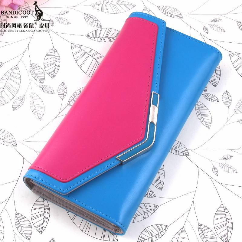 Ms. fashion style kangaroo wallet genuine long section bills folder wallet wild fashion hit color female