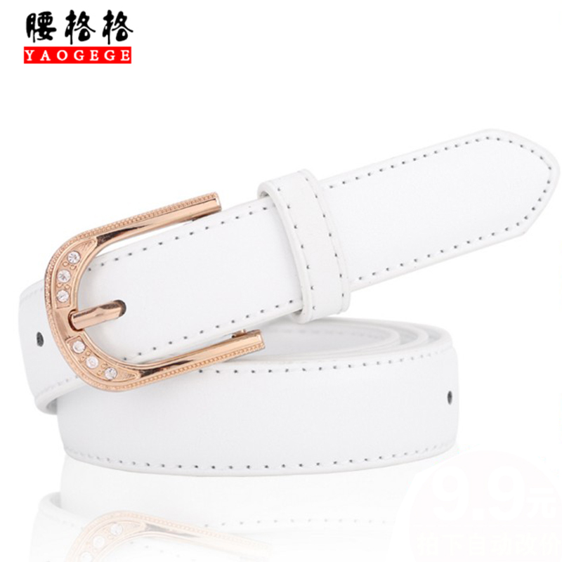 Ms. female models leather belt ms. belt belt female models korean wild fashion decorative leather belt simple