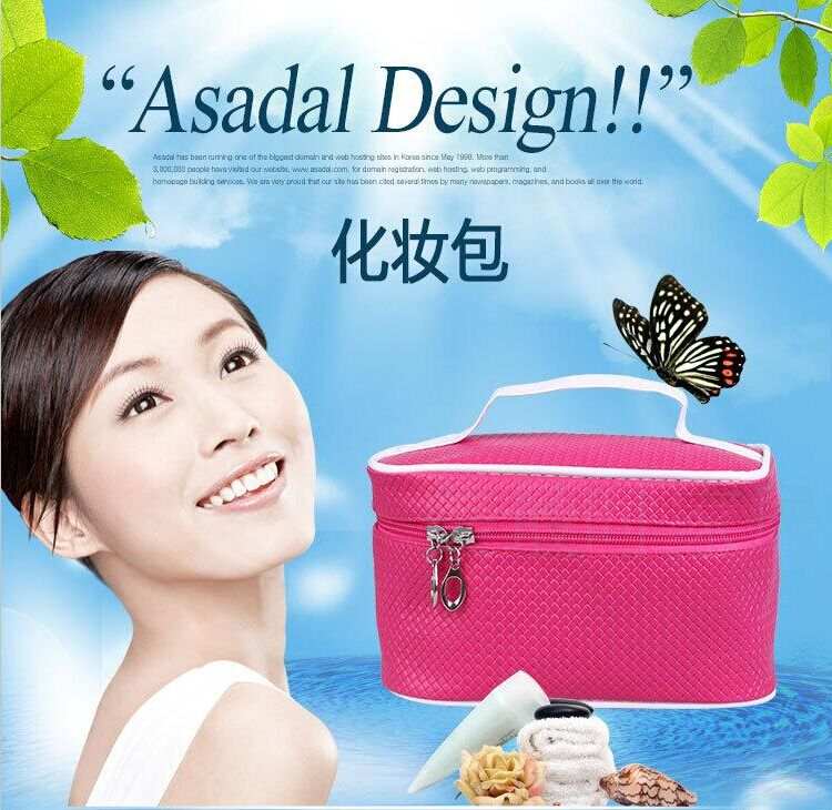Ms. korea new fashion cosmetic bag large capacity multifunctional storage bag cosmetic bag handbag cosmetic case